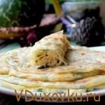 Веганские рецепты: Алу-паратха индийская лепешка с начинкой