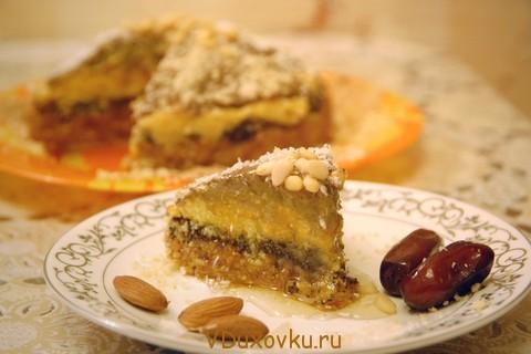 торт финиково-миндальная радость