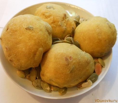 индийские булочки с тыквенными семечками