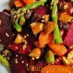 марокканский салат из овощей и орехов