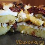 Вегетарианские рецепты: Пряная полента с вялеными помидорами и сыром