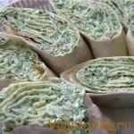 Рулеты из творога, зелени и сыра фета / Вегетарианские рецепты