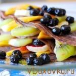 Вегетарианские и сыроедческие рецепты: Сыроедческие фруктовые блины
