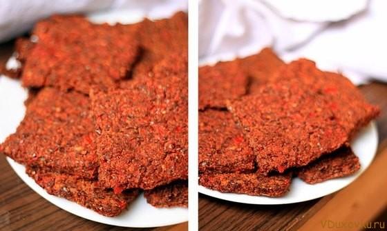 сыроедческий томатный хлеб