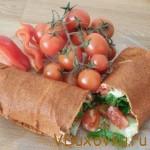 Вегетарианские и сыроедческие рецепты: Сыроедческий лаваш
