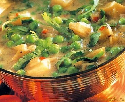индийский суп с зеленым горохом