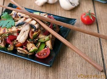 салат из тофу и овощей