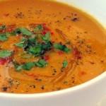 Веганские и вегетарианские рецепты / Индийский постный суп из красной чечевицы