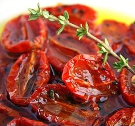 сушенные помидоры в оливковом масле