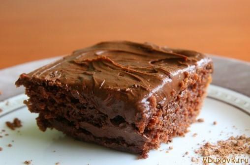 веганский шоколадный торт