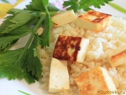кесар панир пулао или шафрановый рис с паниром