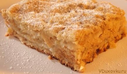 легкий рецепт насыпного яблочного пирога