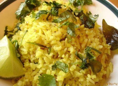 лимонный рис или нимбу чавал