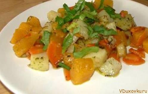 веганское рагу из картошки и тыквы