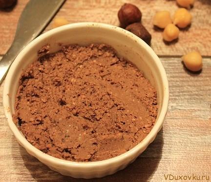 сыроедческая шоколадная паста из нута