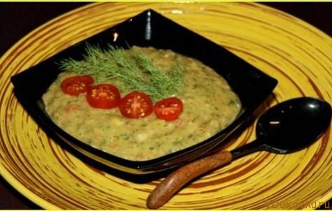 сыроедческий суп с авокадо и овощами