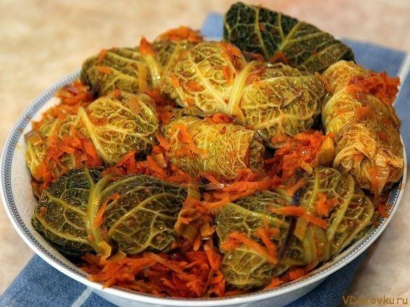 вегетарианские гоубцы в савойской капусте