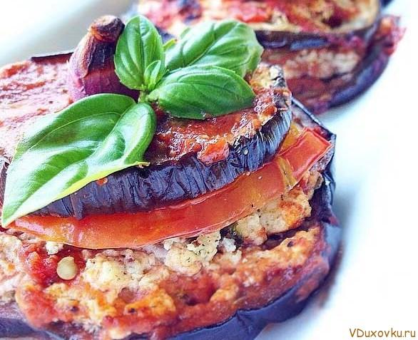 баклажаны вегетарианские рецепты в духовке с